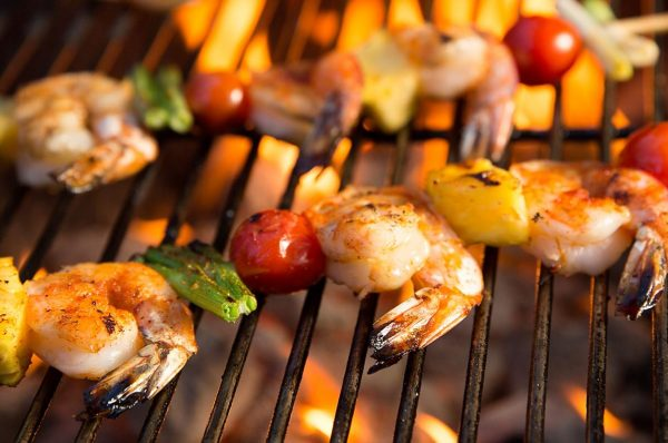 Shrimp & Pepper Kebabs